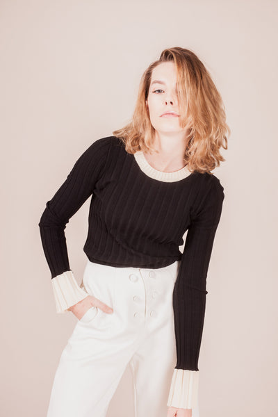 Bayard Bell-sleeve Sweater | Petite Studio-petite clothing & tops