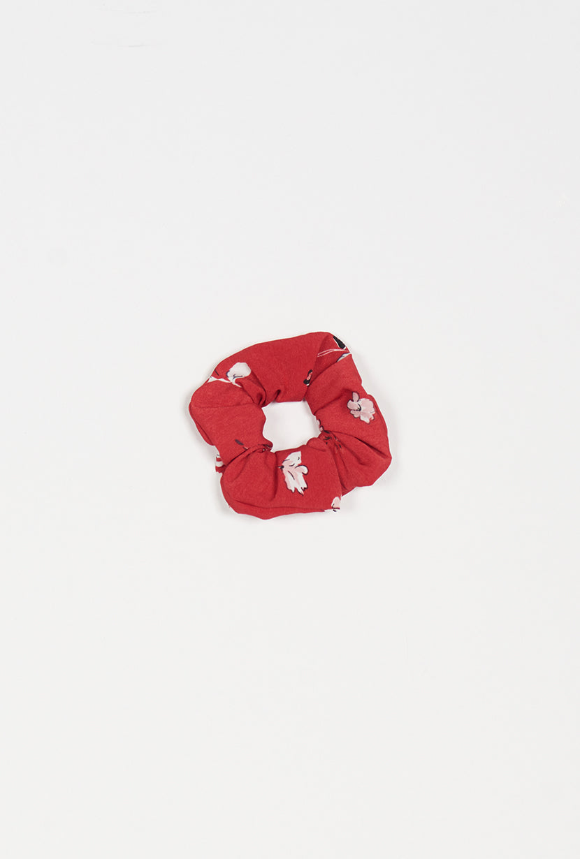 Scrunchies - Red Blooms - Petite Studio NYC