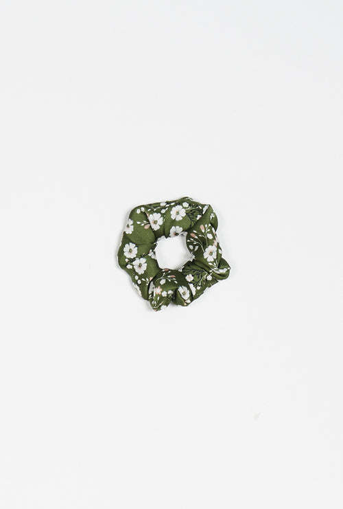 Scrunchies - Green Floral - Petite Studio NYC