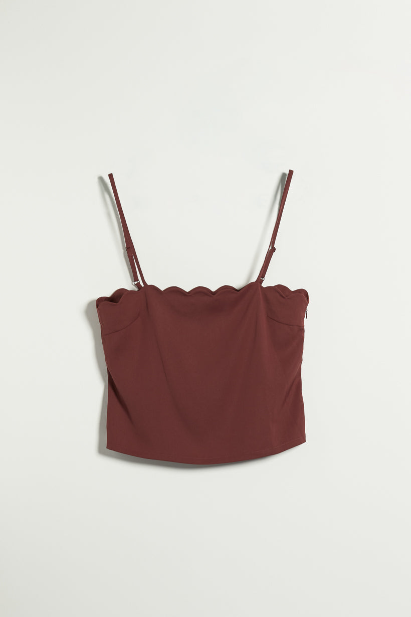 Kendra Top - Red Wine - Two in one chiffon top - Petite Studio NYC