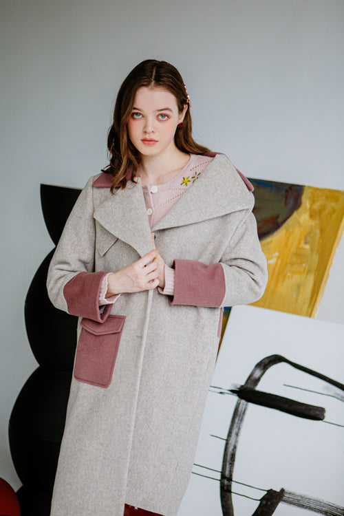 women's winter coats-wool coat-petite fashion-petite girls-Winter 2020-Hailey Wool Coat - Oatmeal-Petite Studio NYC