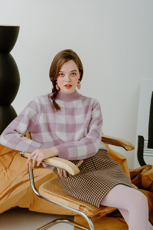 sweater-cute sweater-petite fashion-petite girls-Winter 2020-Cathleen Wool Sweater - Lavender -Petite Studio NYC