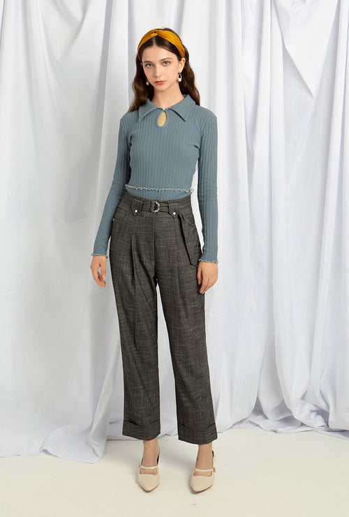 Nuremberg Pants - Charcoal - High waist pants - Petite Studio NYC