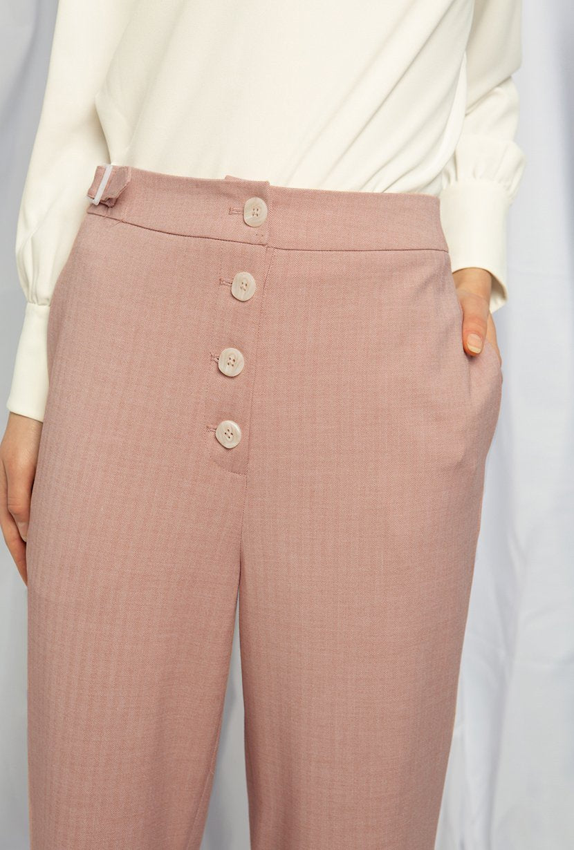 Geneva Pants - Dusty Rose - Petite Studio NYC