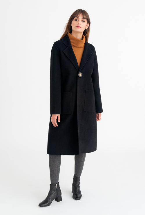 Cleo Coat - Black-outerwear-Petite Studio