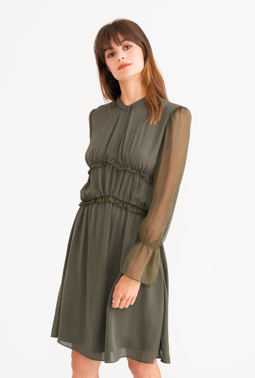 Rory Dress - Forest Green-dresses-Petite Studio