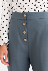 Veda Pants - Dusty Blue-bottoms-Petite Studio