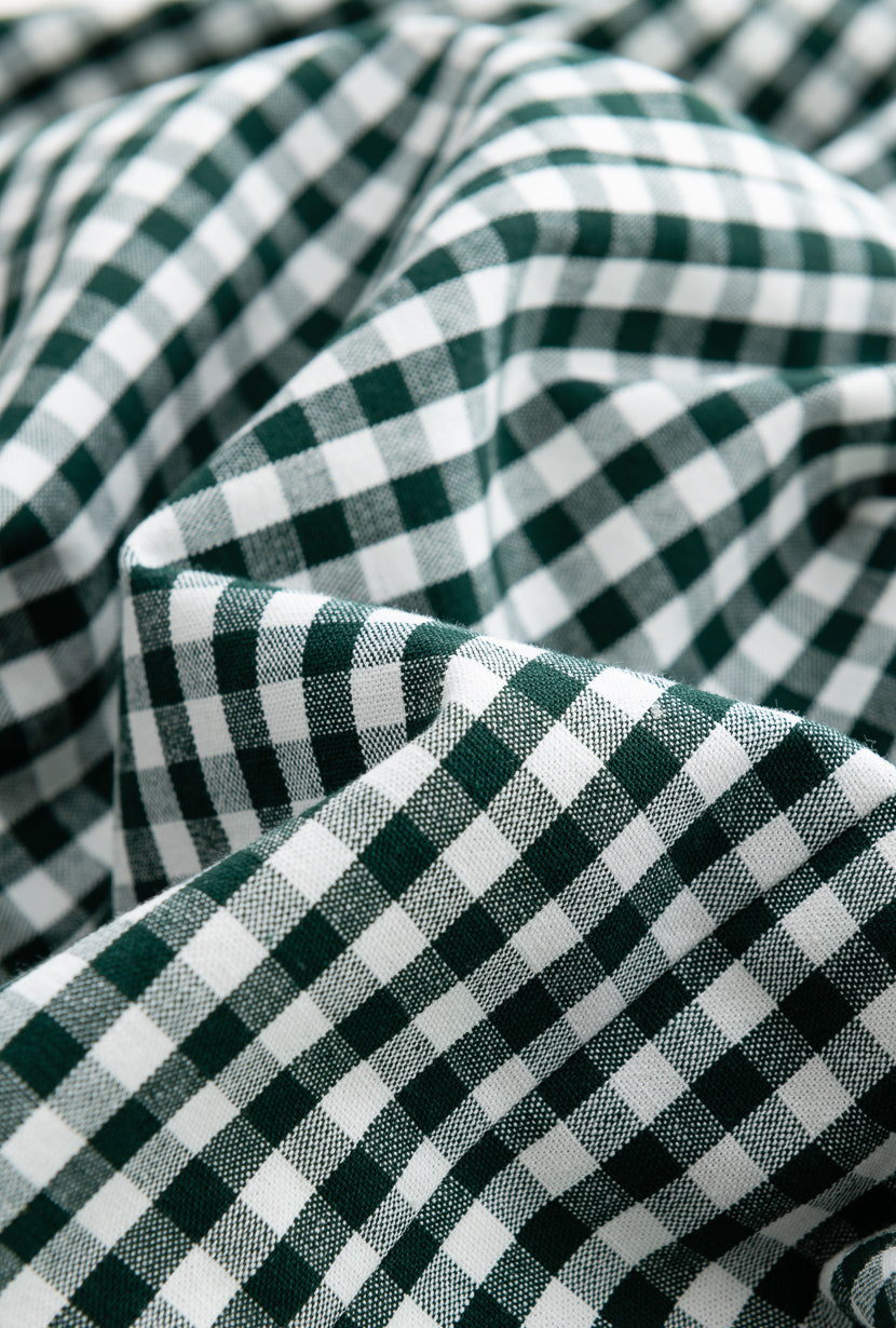 Clover Top-Green Gingham-tops-Petite Studio