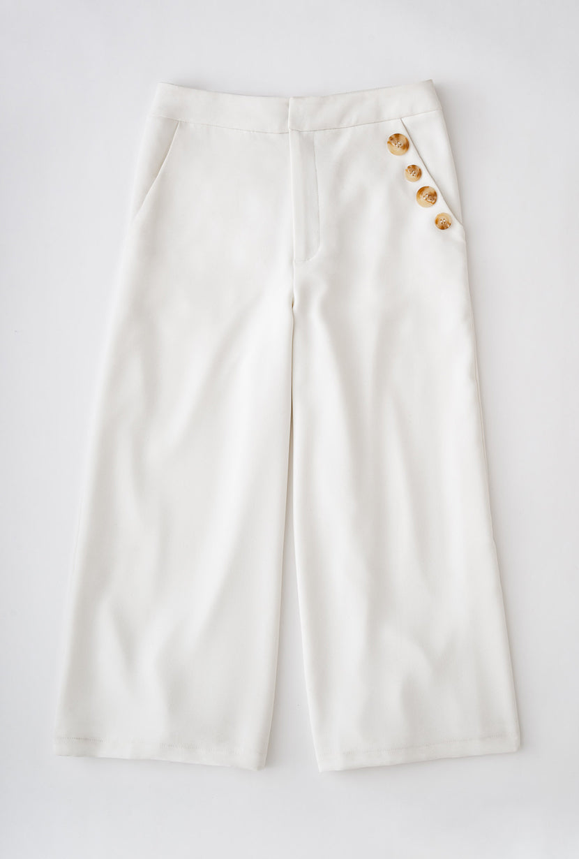 Millie Pants - White-bottoms-Petite Studio