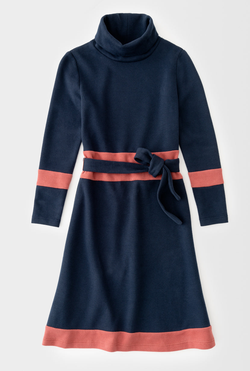 Anya Dress - Navy-dresses-Petite Studio
