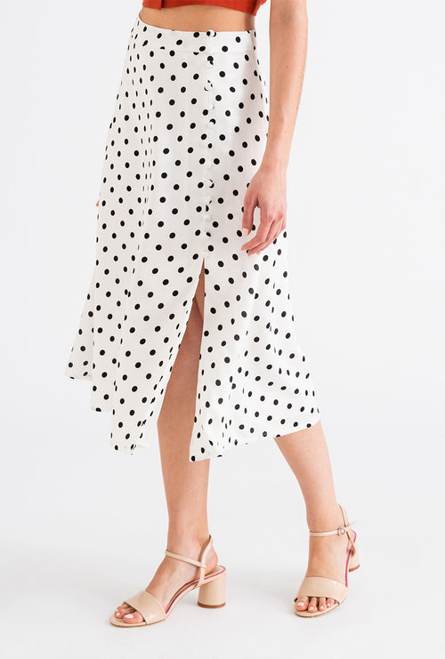 Lily Skirt - Polka Dot-bottoms-Petite Studio