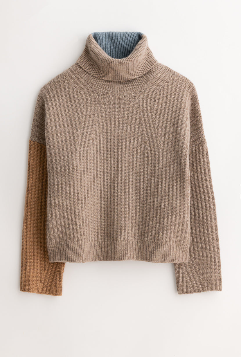 averie cashmere blend sweater - sky