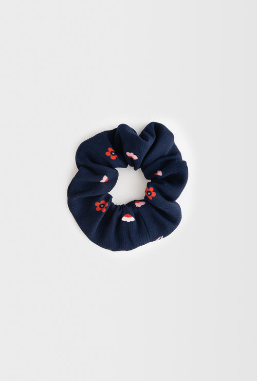 Scrunchies - Navy Floral-Accessories-Petite Studio