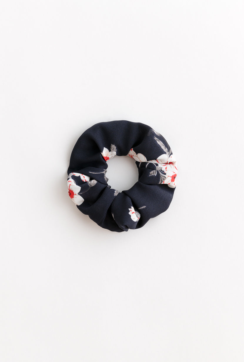 Scrunchies-Navy Floral-accessories-Petite Studio