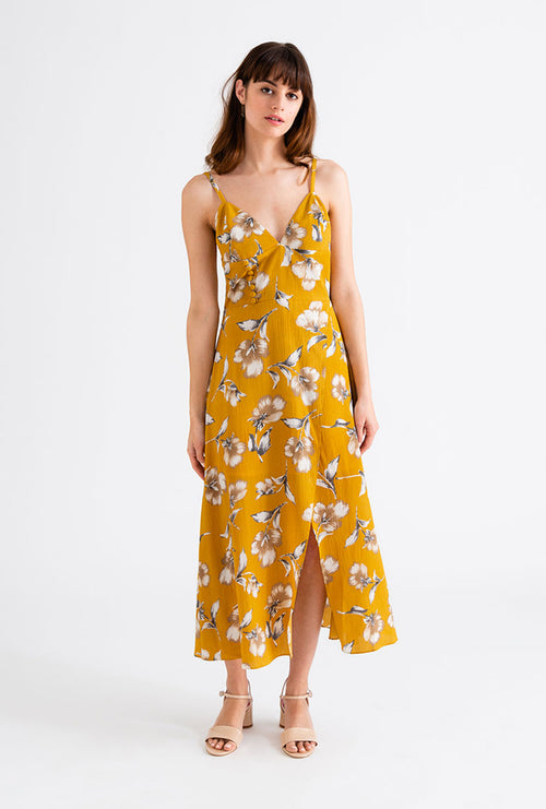 Carly Dress - Mustard-dresses-Petite Studio