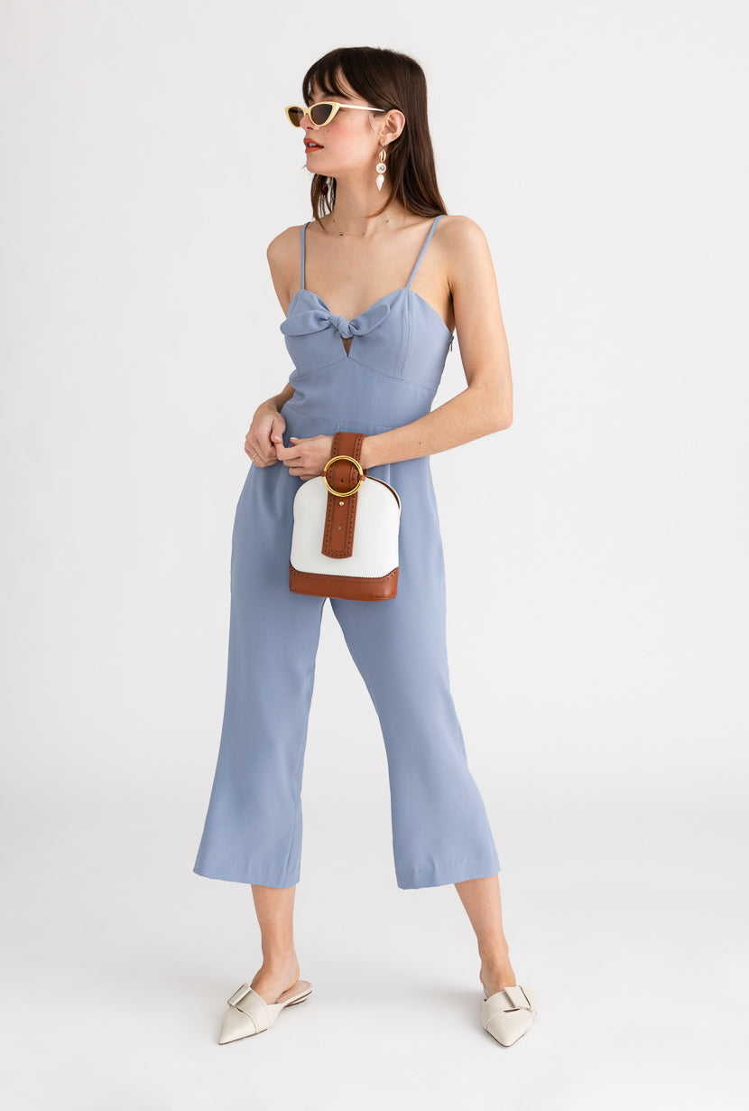 Juno Jumpsuit-Vivid Blue-light blue jumpsuit-Petite Studio NYC