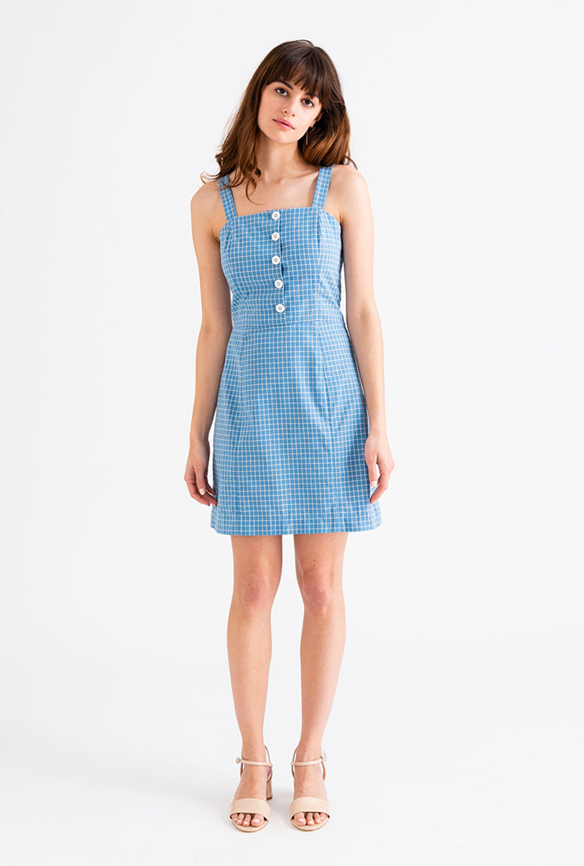 Poppy Dress - Ocean Blue-dresses-Petite Studio