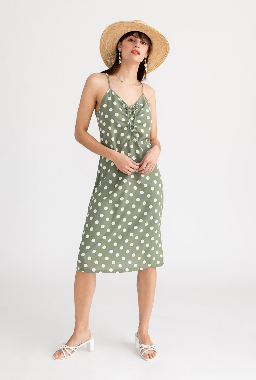 Linden Dress-Polka Dot-dresses-Petite Studio