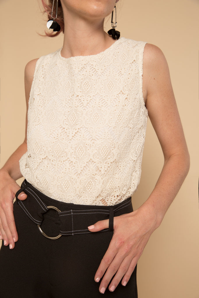 Vinca Lace Top | Petite Studio-petite clothing & tops