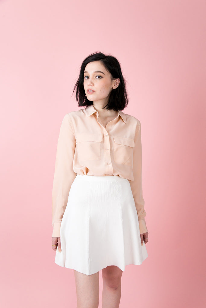 Madison Pocket Blouse-Champagne | Petite Studio-petite clothing & Tops