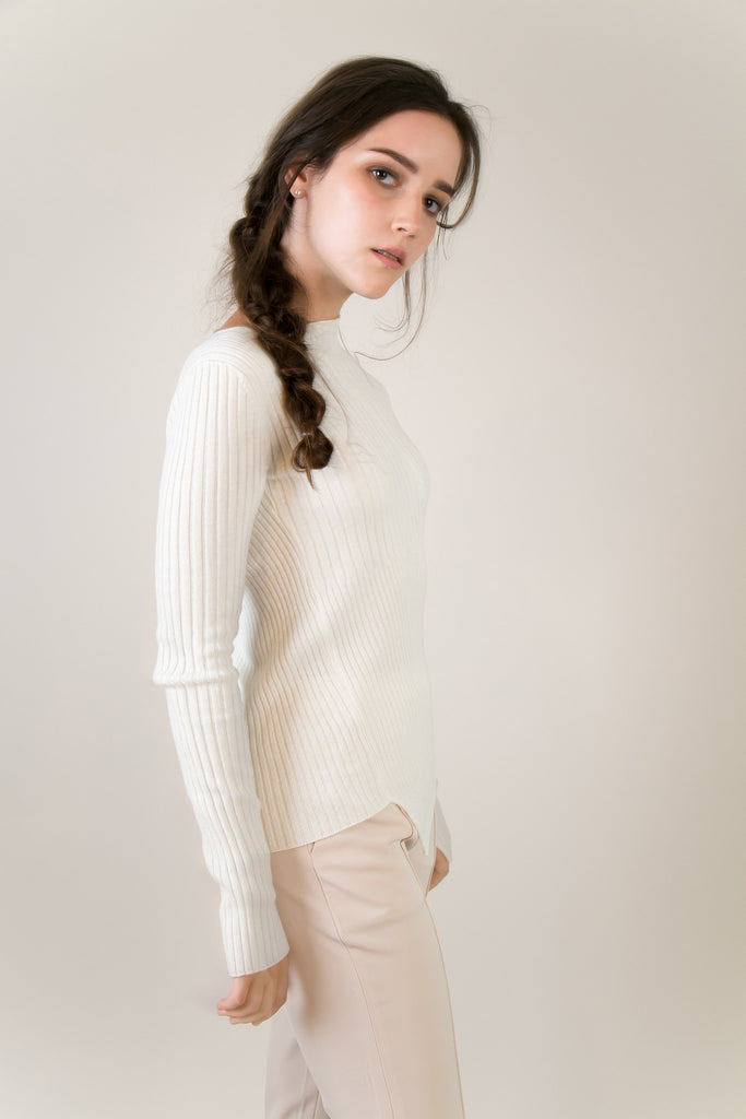 Moma Asymmetric Sweater | Petite Studio-petite clothing & sweaters