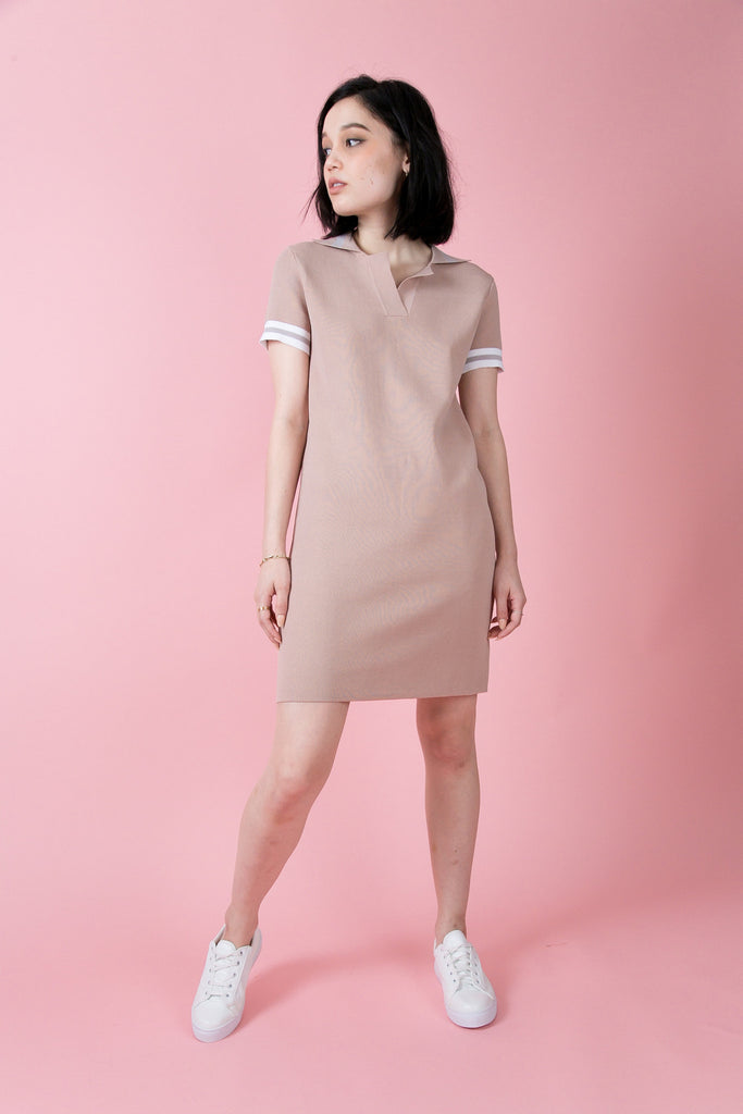 Nolita Pola Knit Dress -Pink | Petite Studio-petite clothing & Dresses