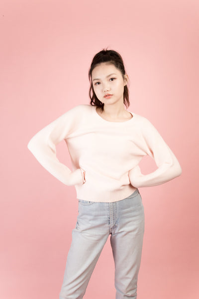 Orchard Pink Crew Neck Sweater | Petite Studio-petite clothing & tops