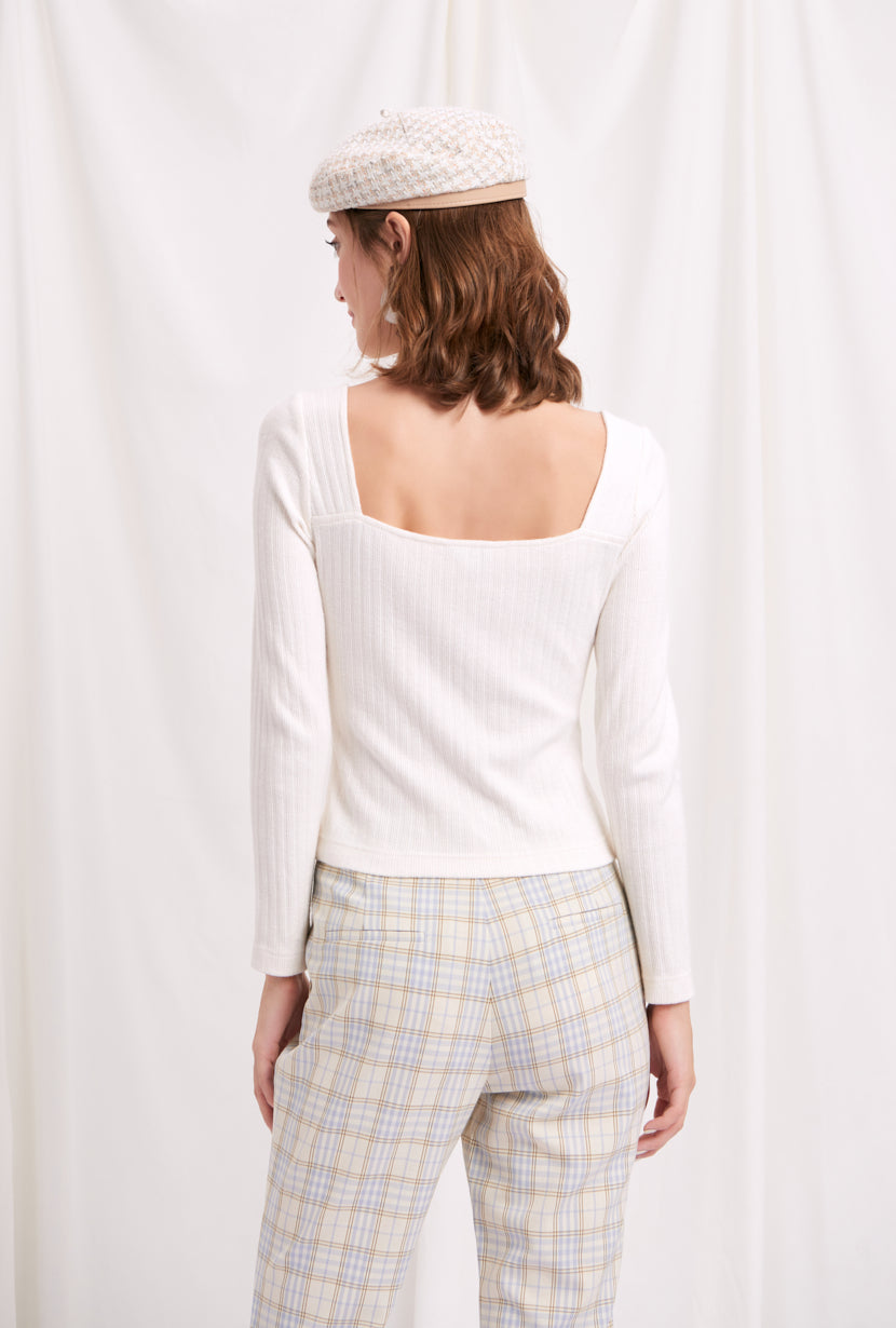 knit wear-white top-petite fashion-petite girls-Spring 2021-Juliet Top - White-Petite Studio NYC