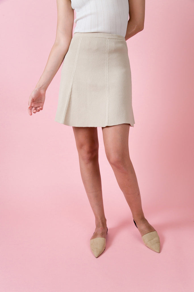Soho Knit Skirt - Camel | Petite Studio-petite clothing & petite dress