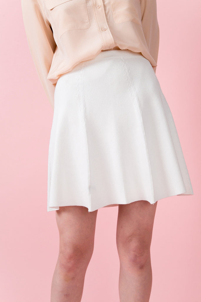 Soho Knit Skirt - White | Petite Studio-petite clothing & petite dress