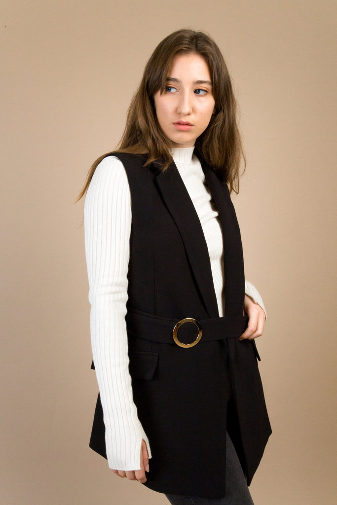 Thompson Buckle Waistcoat | Petite Studio-petite clothing & outwear