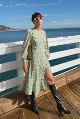 dress-wrap dress-petite fashion-petite girls-Spring 2021-Birkin Dress - Green Print -Petite Studio NYC