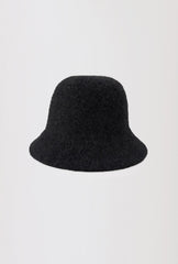 Wool Bucket Hat - Black
