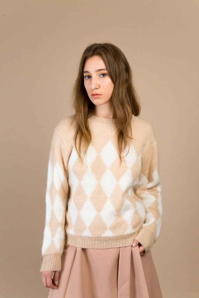 Wooster Grid Sweater | Petite Studio-petite clothing & tops