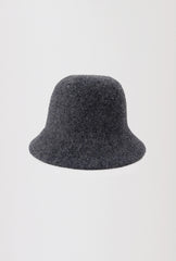 Wool Bucket Hat - Dark Grey - Petite Studio NYC