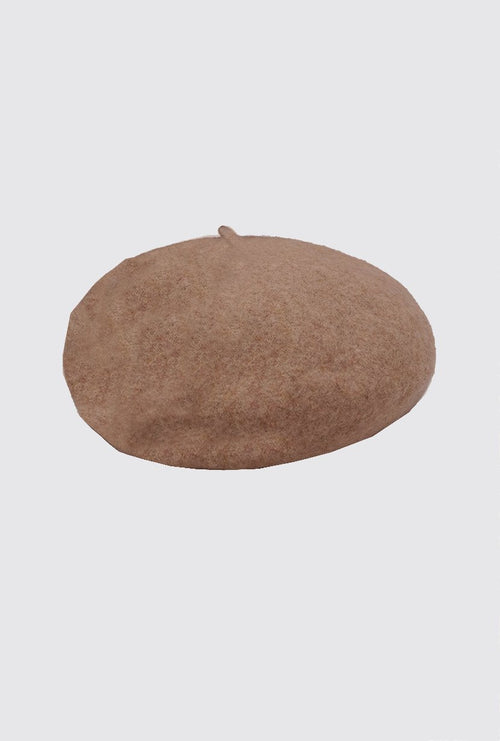 Wool Beret - Brown - Petite Studio NYC