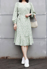 Petite Studio Birkin Dress Green Print