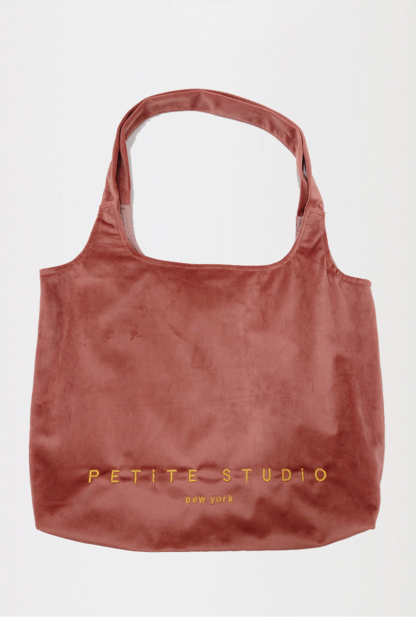 Velvet Tote Bag - Rose - Petite Studio NYC