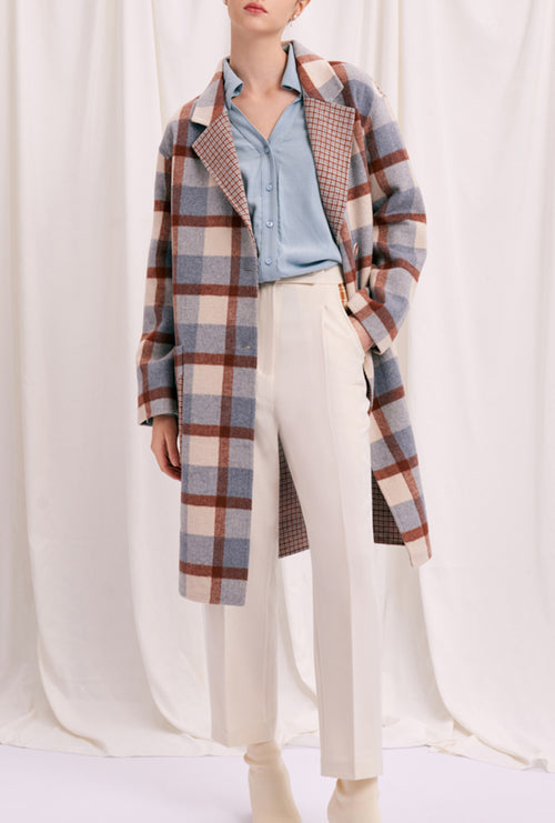 Memphis Coat - Blue Plaid