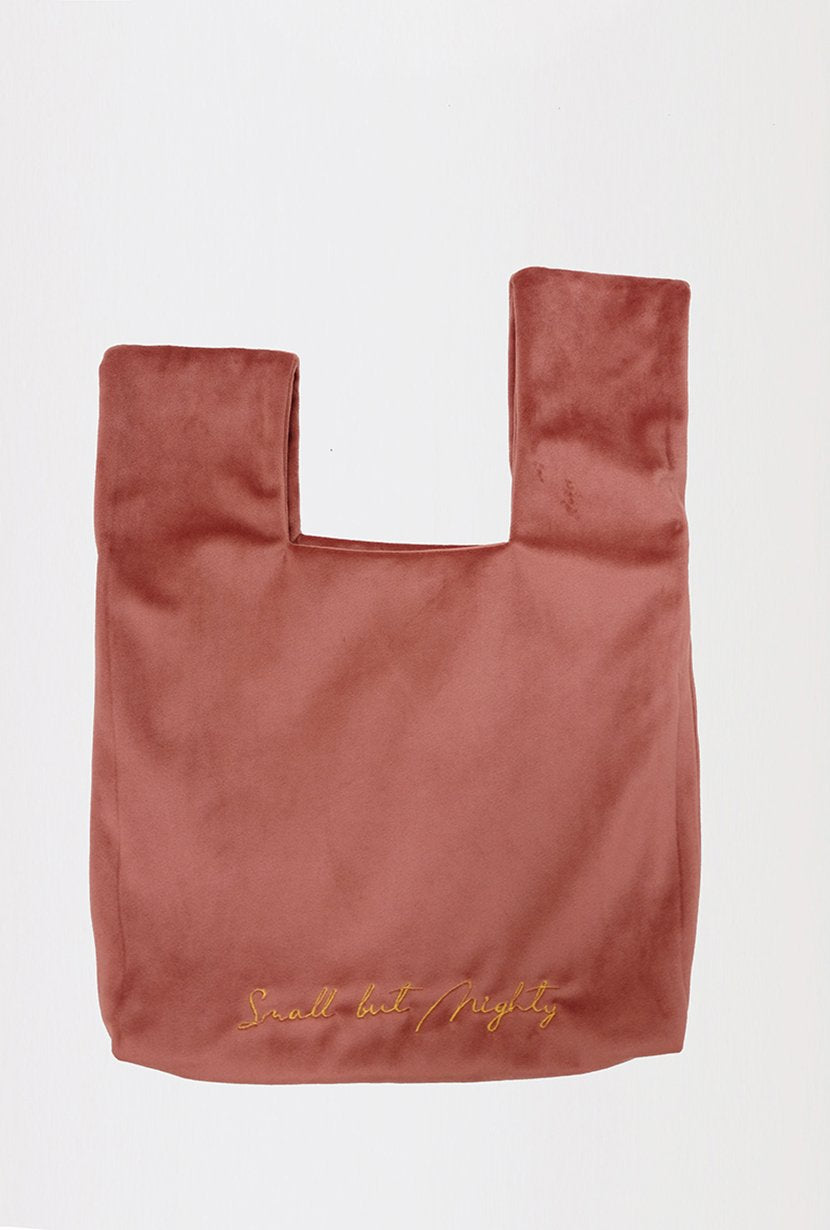 Velvet Hand Bag - Rose - Petite Studio NYC