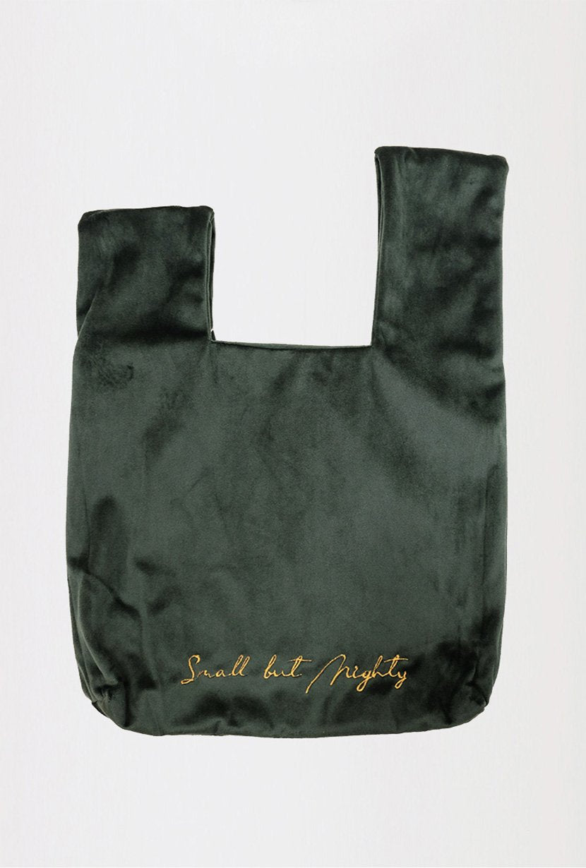 Velvet Hand Bag - Forest Green - Petite Studio NYC