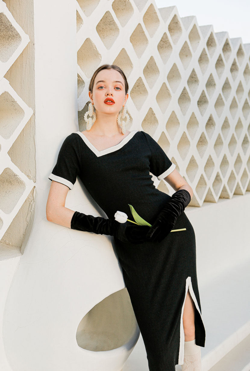 dress-black dress-petite fashion-petite girls-Spring 2021-Hepburn Dress - Black-Petite Studio NYC