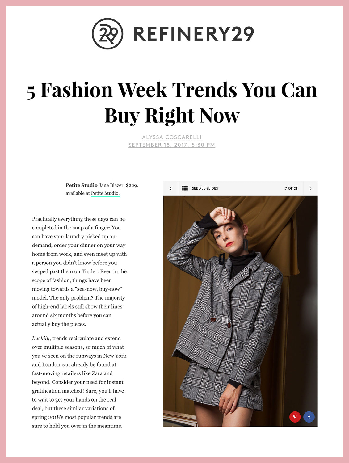 5 Fashion Week Trends You Can Buy Right Now