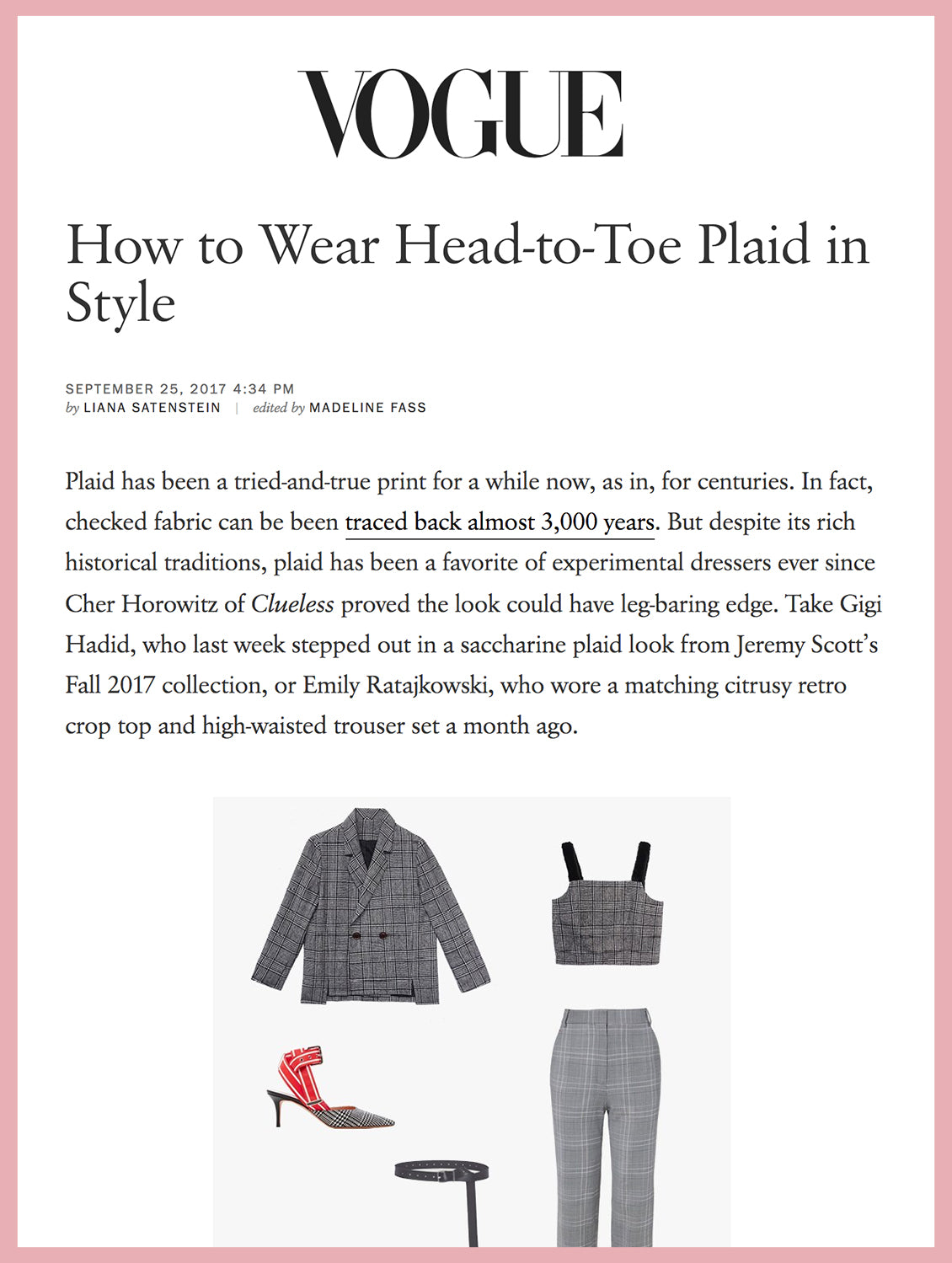 How to Wear Head-to-Toe Plaid in Style