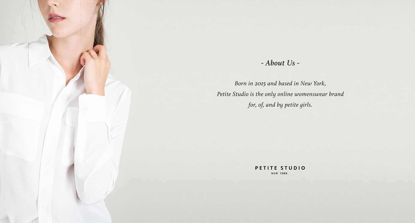 Petite Studio NYC is the only online womenswear brand for, of, and by petite girls