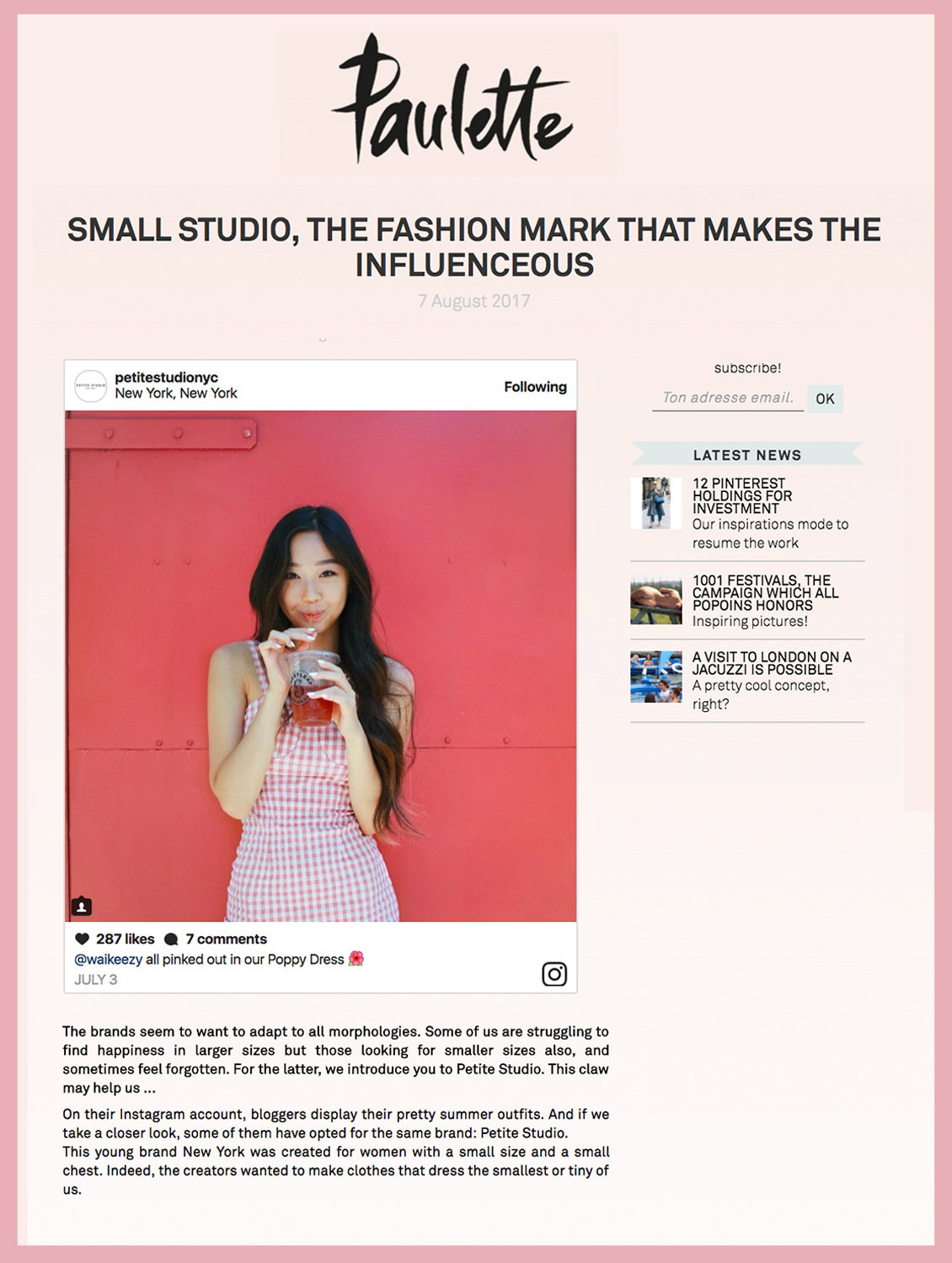 SMALL STUDIO, THE FASHION MARK THAT MAKES THE INFLUENCEOUS