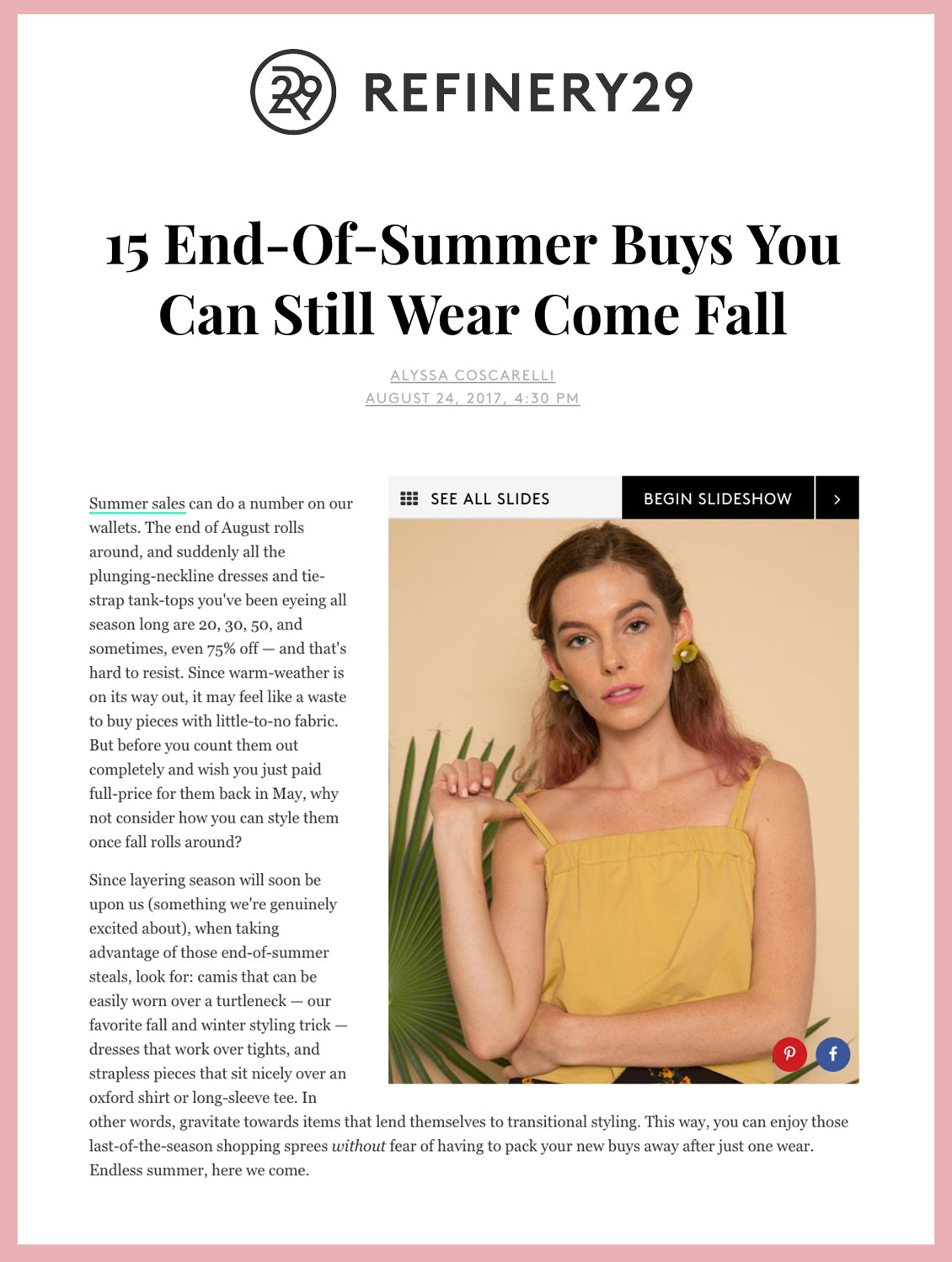 15 End-Of-Summer Buys You Can Still Wear Come Fall