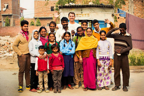 Corbin with people of India