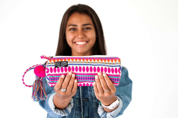 Embroidered Zipper Pouch - Arya 1