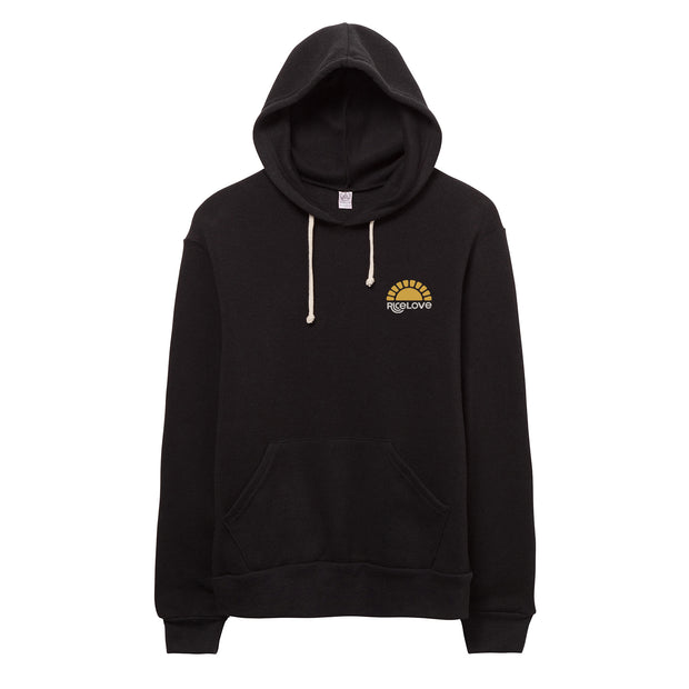 Hoodie - Eco-Fleece - Sunshine - Black